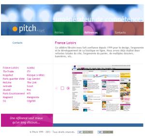 Les références de Pitch.net
