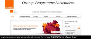 Orange Programme Partenaire