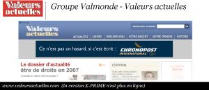 Groupe Valmonde - Valeurs Actuelles