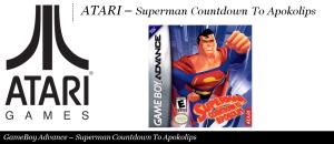 Atari - Superman Countdown To Apokolips